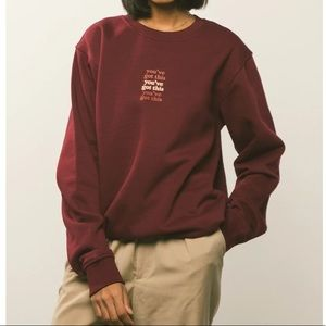 NWT Peace Collective You've Got This Crewneck S